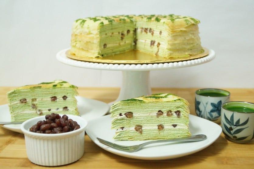 Green Tea Cake Crepe Order