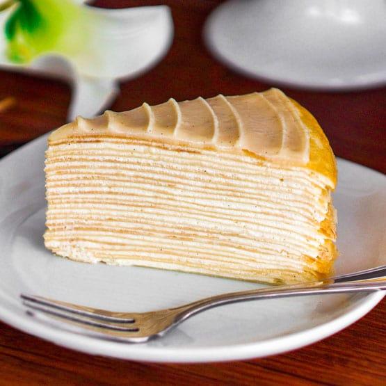 Chocolate And Vanilla Crepe Cake