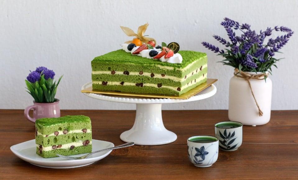 Green Tea Sponge Cake Junandus