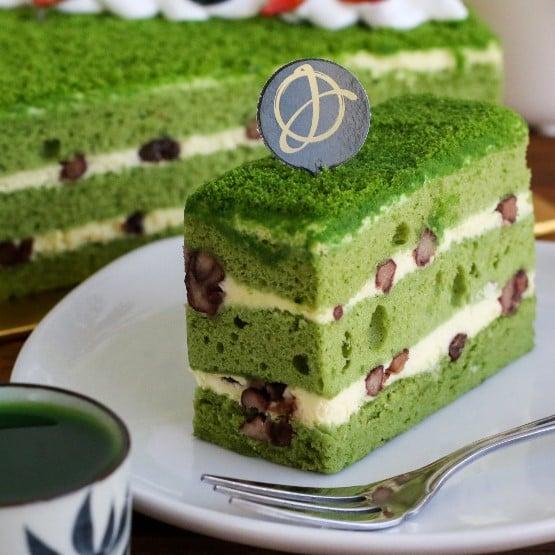 Green Tea Sponge Cake Slice Junandus