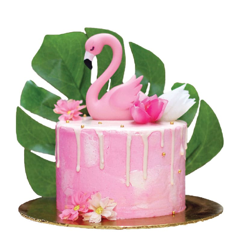 Swell Flamingo Cake Junandus Personalised Birthday Cards Veneteletsinfo