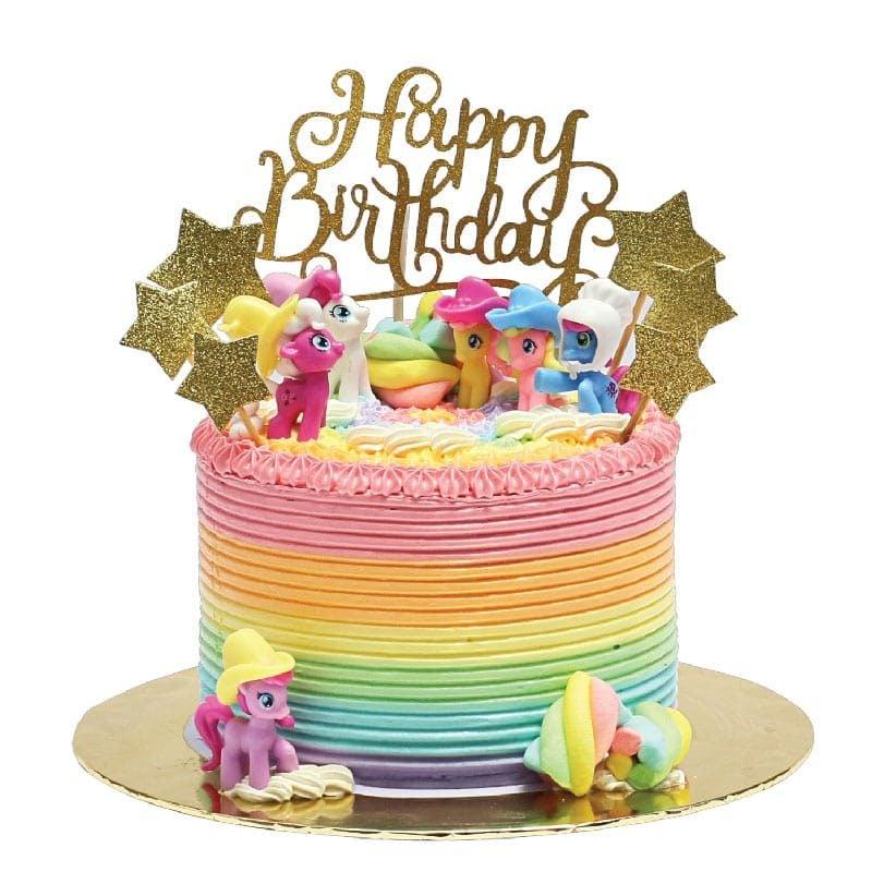 Groovy My Little Pony Cake Junandus Funny Birthday Cards Online Alyptdamsfinfo