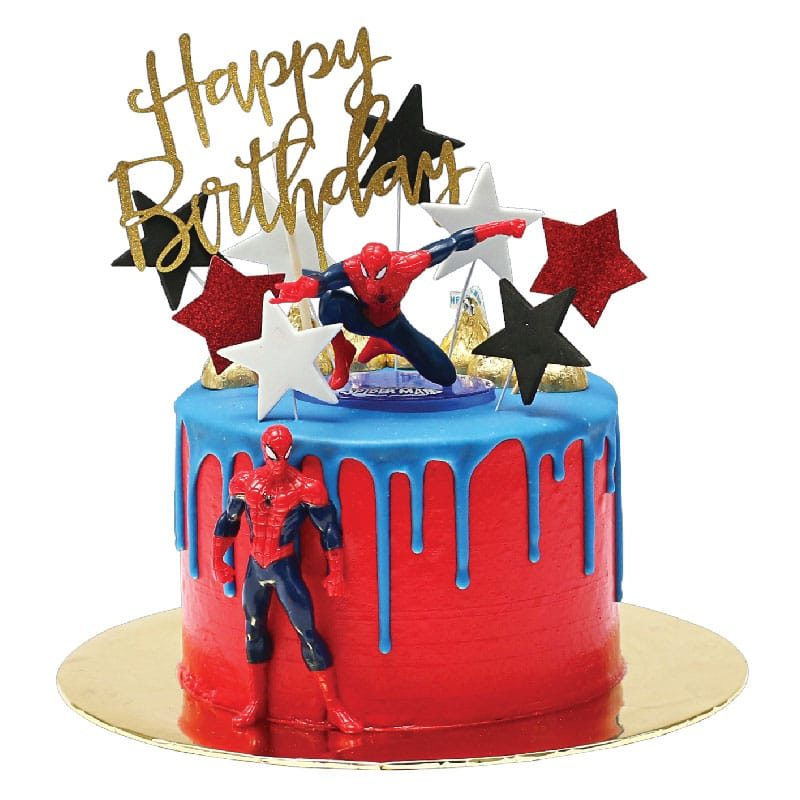 Remarkable Spiderman Cake Junandus Funny Birthday Cards Online Alyptdamsfinfo
